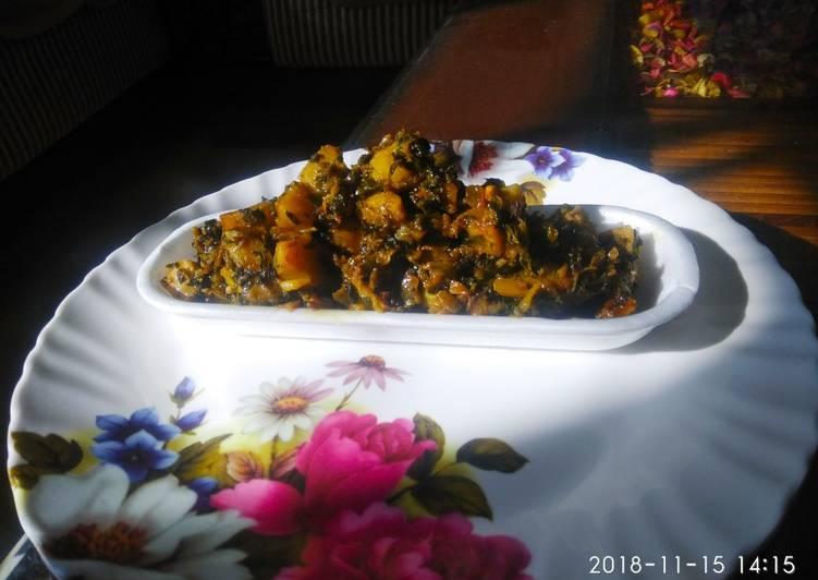 traditional methi bhaaji recipe main photo