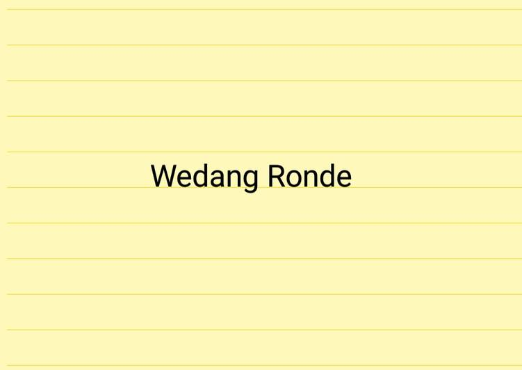 traditional wedang ronde drink tastemade recipe main photo