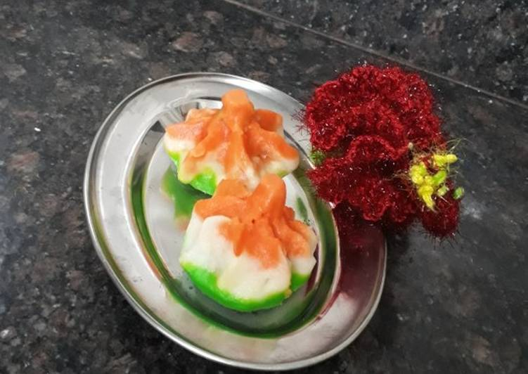 tri colour traditional steam modak ukdiche modak recipe main photo