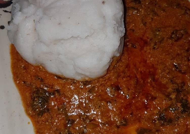 tuwon rice with egusi soup 😋 recipe main photo