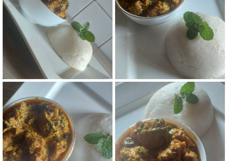 tuwon shinkafa with egusi soup recipe main photo