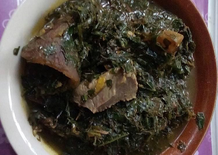 ugu and okazi soup recipe main photo