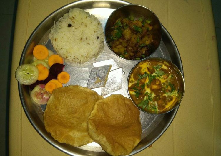 up style traditional thali recipe main photo