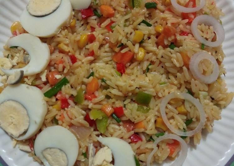 vegetable coconut fried rice recipe main photo