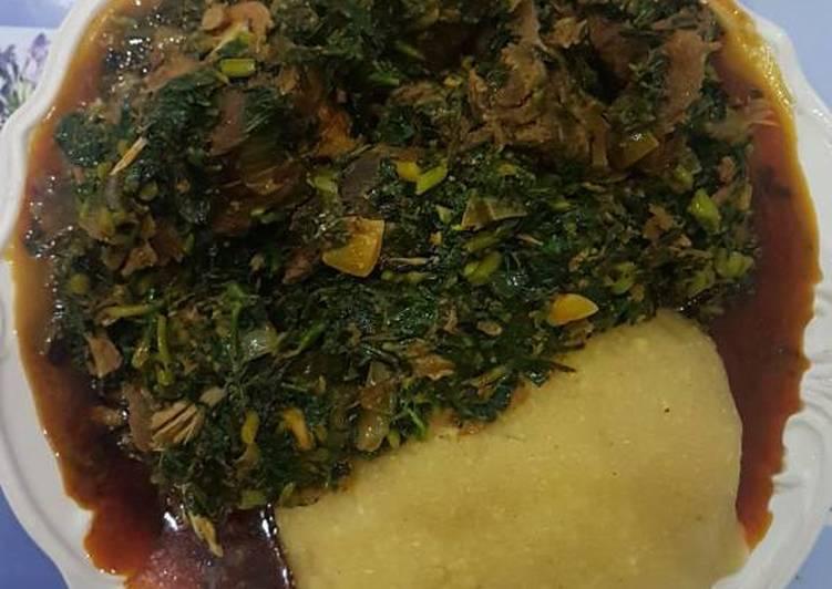 vegetable soup and eba recipe main photo 2