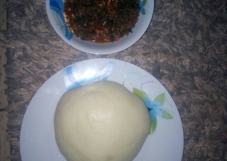 vegetable soup and pounded yam recipe main photo
