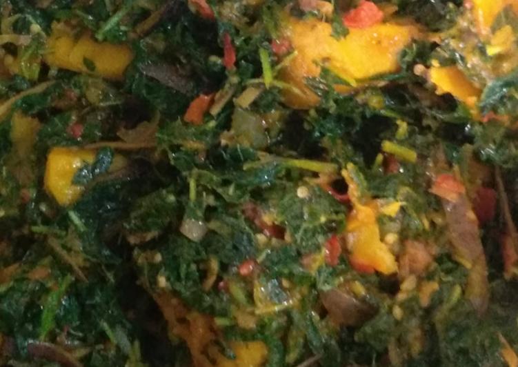Traditional African Foods Vegetable yam (ji akwukwo nri)
