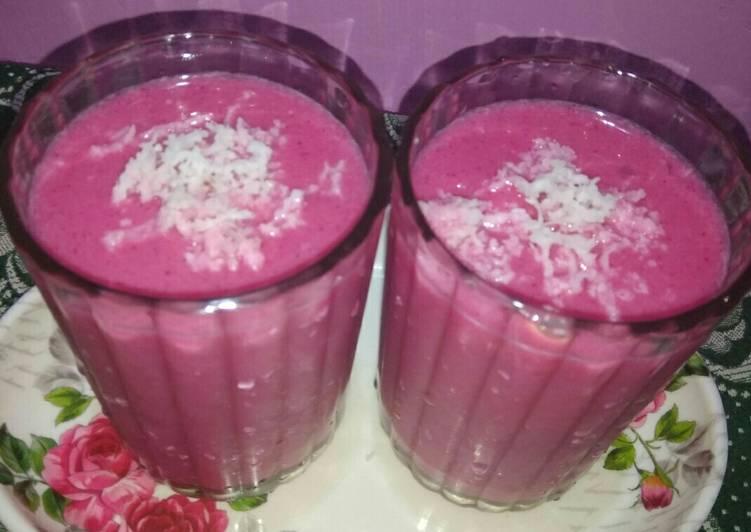 African Dish Watermelon pomogrant lassi