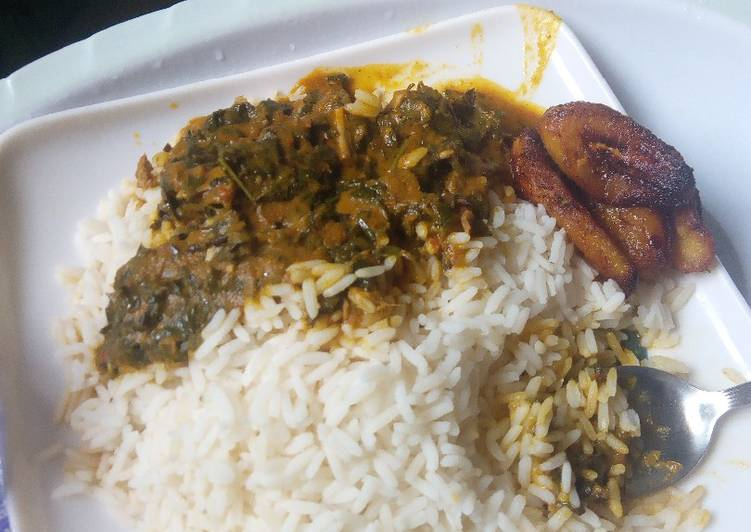 white rice and banga stew recipe main photo