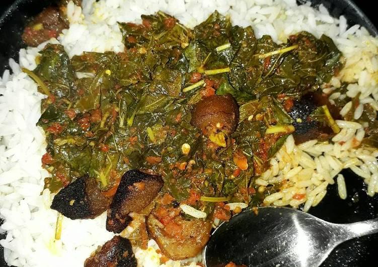 white rice and efo riro recipe main photo