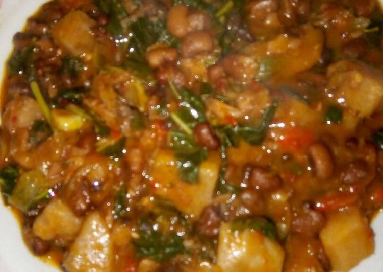 yam and beans porridge recipe main photo 6