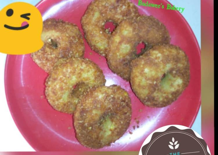 African Food Yam Donuts.