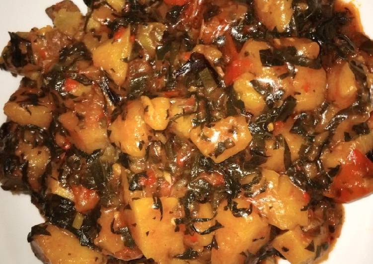 Traditional African Foods Yam porridge (Akpete)
